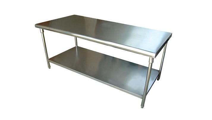 供应宇晨不锈钢操作台 不锈钢工作台 不锈钢边台 不锈钢桌子 不锈钢图片