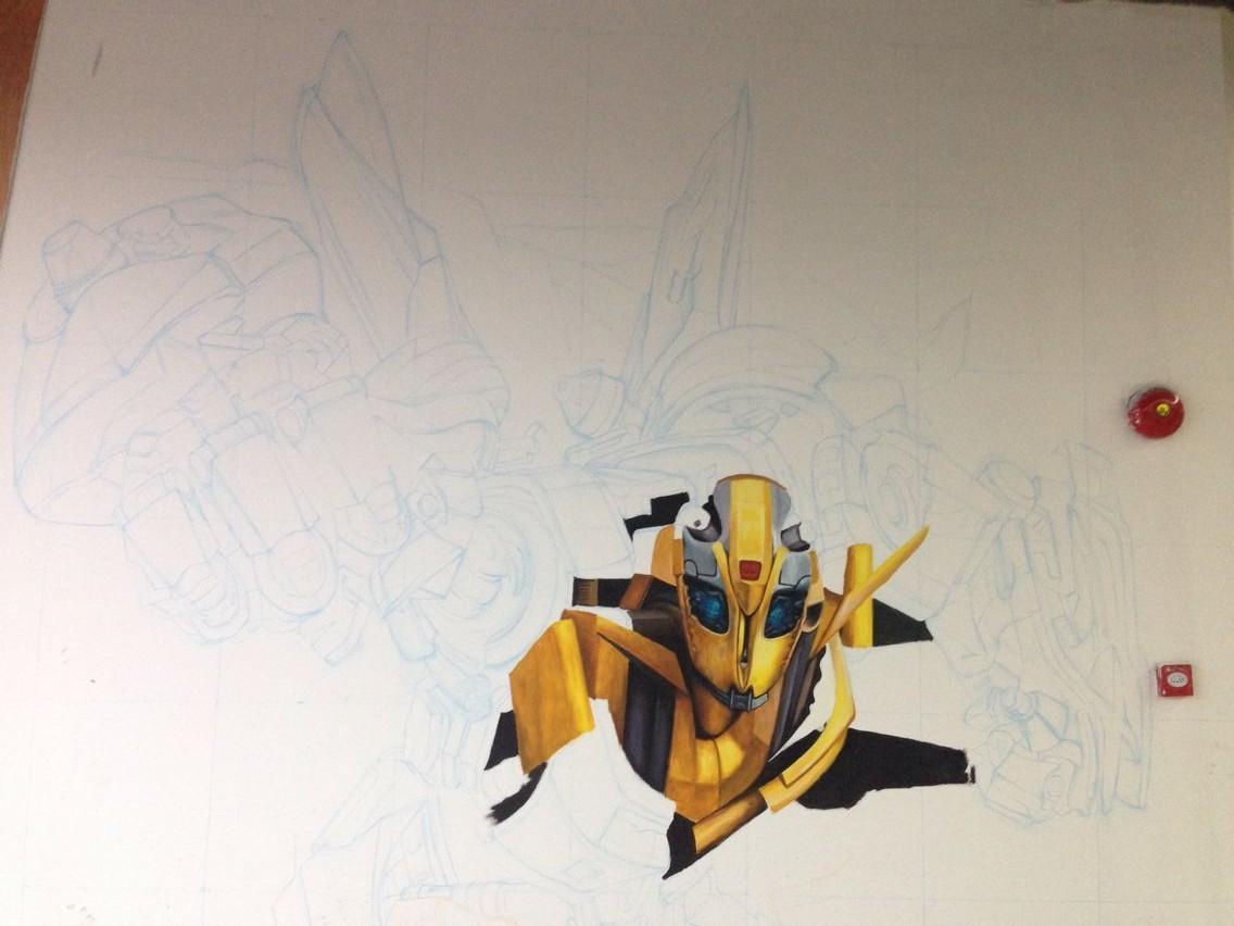 3d涂鸦手绘墙