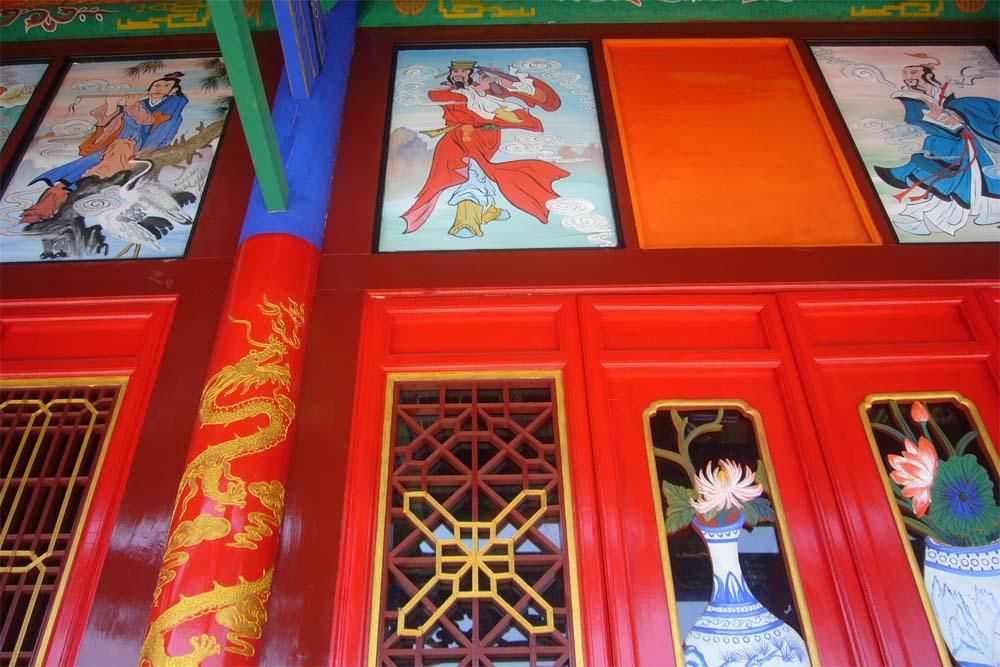 画苏式彩画和玺彩画墙体彩绘工程项目 古建彩绘-甘肃涌泉古建彩绘施工图片