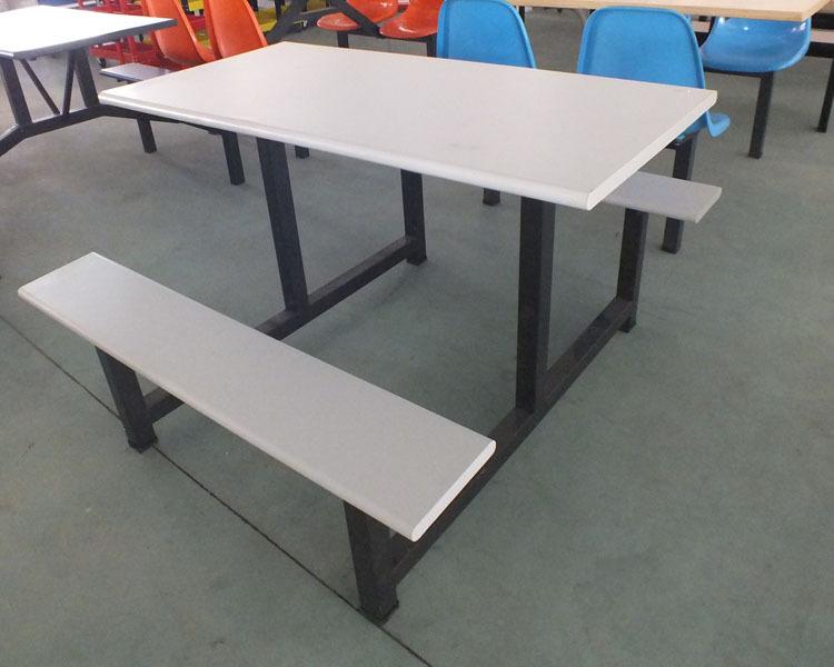 康腾四人位玻璃钢长条凳餐桌椅 适合大中小型餐厅餐桌