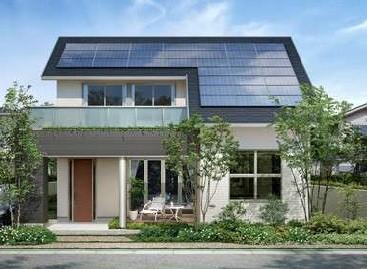 优惠价供应北京6kw家用别墅效果光伏发电成套设备屋顶太阳设计图花园图片