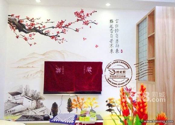 如今的手绘墙面可以与多种家居风格搭配,传达出整体居家的温馨气氛,其