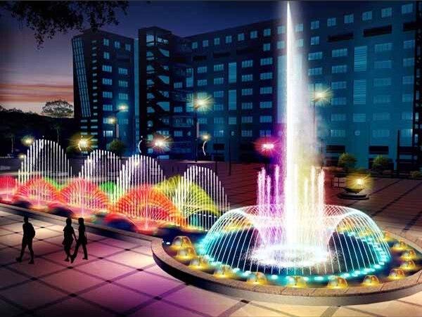 景观喷泉水景专业厂商——广场喷图片