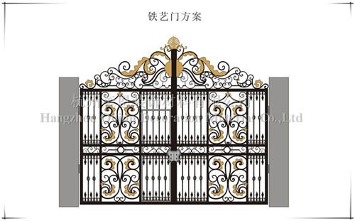 小区别墅庭院豪华高档欧式铁艺大门 2015最新款