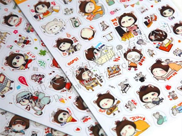 卡通人物贴纸应用广范,如文具盒装饰贴纸,手帐日记本贴,相册装饰贴纸