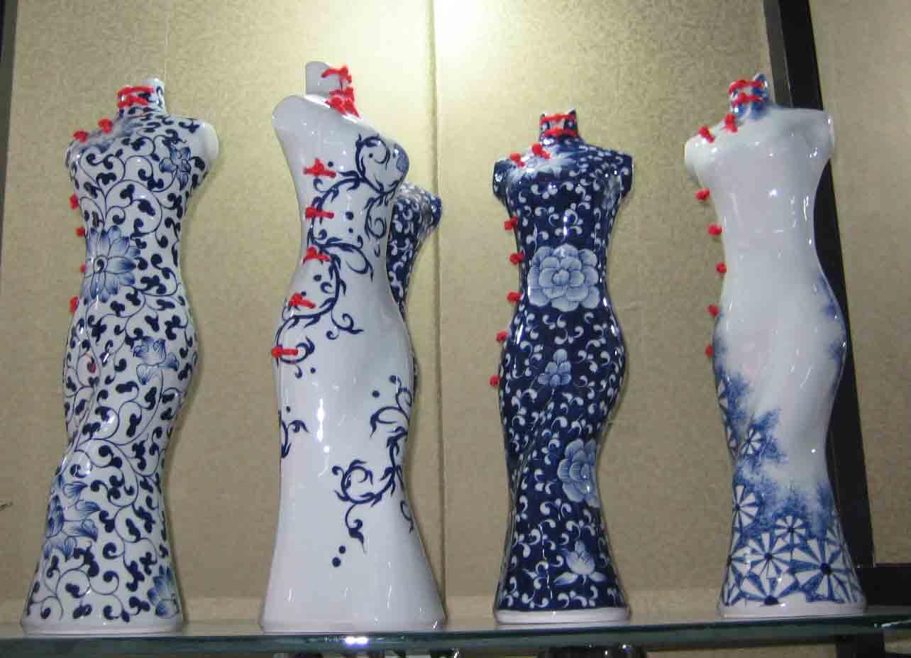厂家直销陶瓷旗袍,定做陶瓷旗袍
