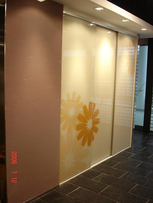 中式花纹玻璃膜