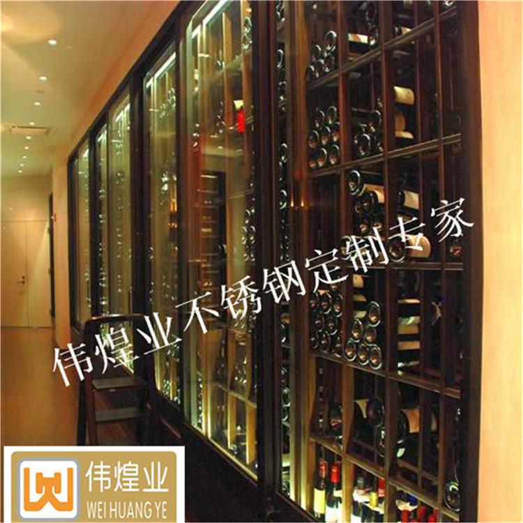 别墅新款欧式不锈钢红酒架|装饰豪华展示柜|不锈钢红酒柜