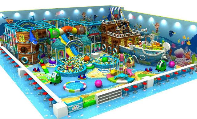 山东济南淘气堡厂家室内儿童乐园儿童滑梯充气城堡