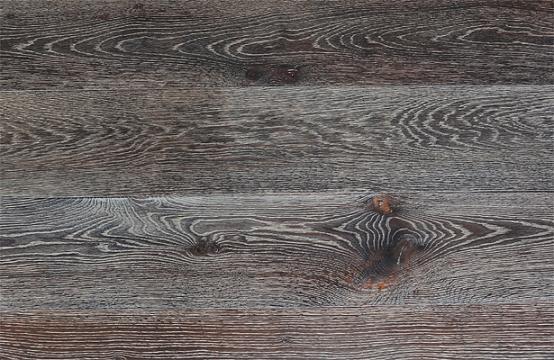 橡木黑色带白纹拉丝烟熏效果多层实木复合地板,橡木多层实木地板