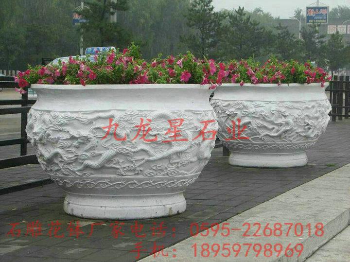户外石材花盆图片