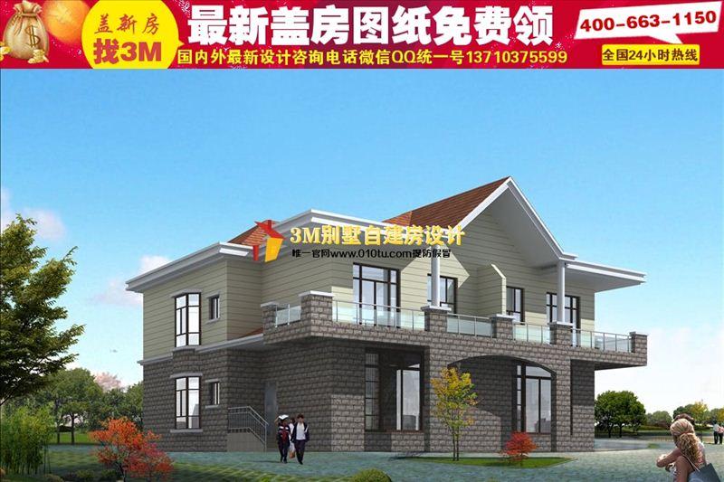 辽宁二三层农村小别墅设计图|15万经济型别墅独栋外观