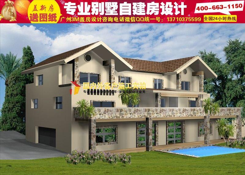 云南二三层农村小别墅设计图|20万农村房屋设计图大全
