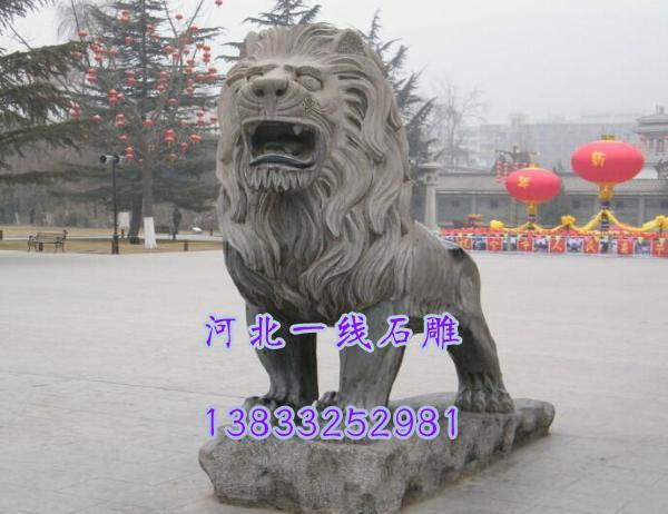 青石石狮子-青石石狮子价格-曲阳一线雕刻厂图片