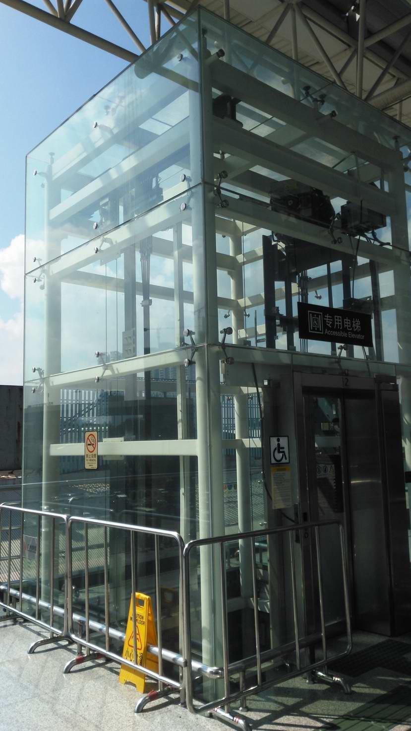 观光电梯|钢结构电梯井道安装_广州钢结构电梯井