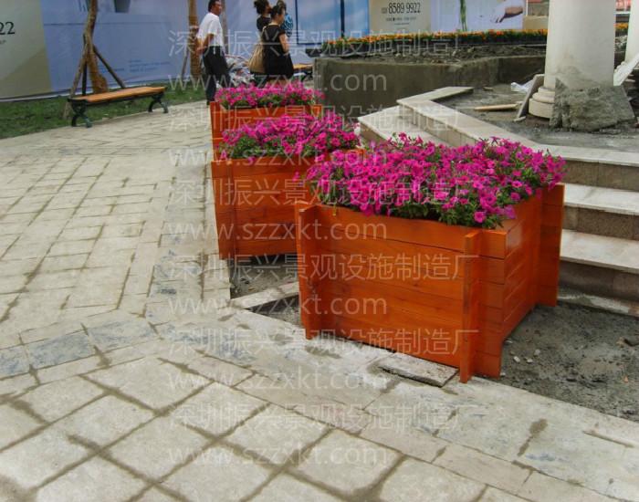 组合挂花箱|花箱顶视图|道路花箱|条形花坛防腐木花盆花箱定做