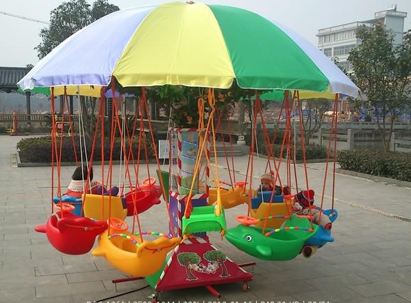 儿童游乐设备丨新型小孩玩的旋转小飞鱼