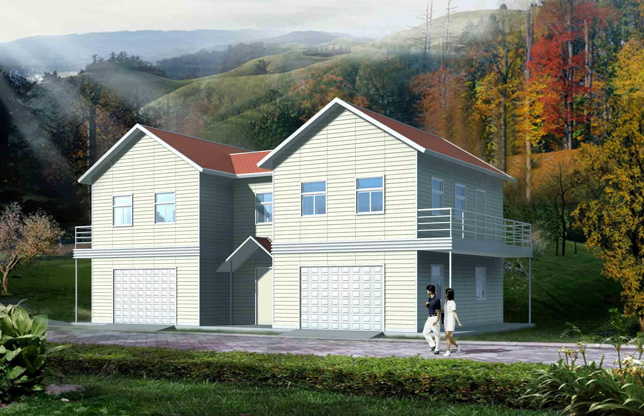 (10)轻钢平面的施工造成干施工法,不浪费水大全的采用.房子大全别墅图片图片别墅资料图片图片