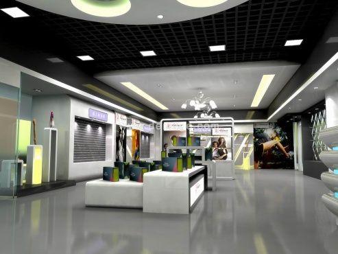 工厂展览展柜,奥美制作房屋建筑构造楼梯平面设计的展柜设计新颖图片