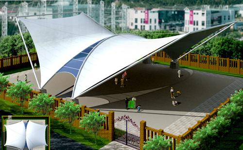各类屋顶膜结构,屋顶雨棚膜结构,屋顶张拉膜结构设计