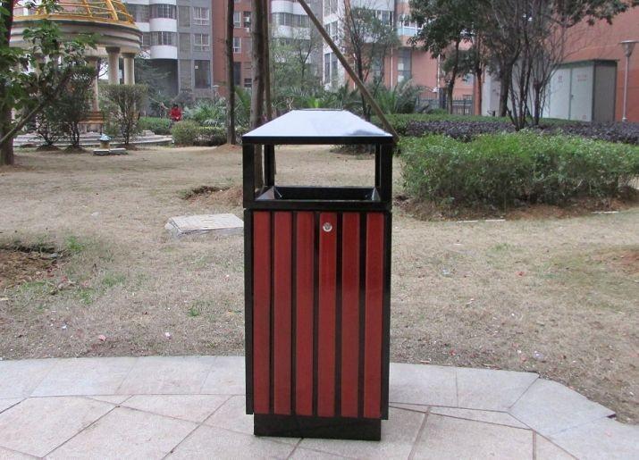 厂家直销 户外圆形冲孔垃圾桶 室外铁烤漆垃圾箱 不锈钢垃圾桶