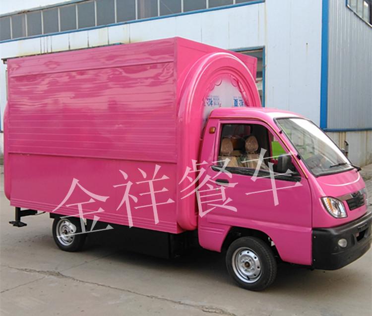 多功电动美食地板车小吃移动三轮车工具车pvc快餐开槽房车图片