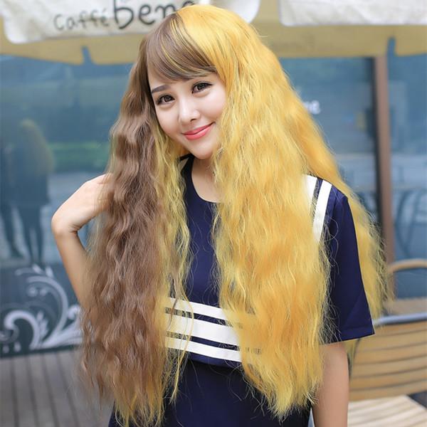 【蓬松玉米烫】蓬松玉米烫头套长卷发中长直梨花头短发长发挑染渐变色