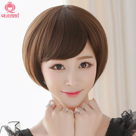 【甜美可爱】七街皇后假发女短发甜美可爱短直发蓬松bobo头斜刘海修脸