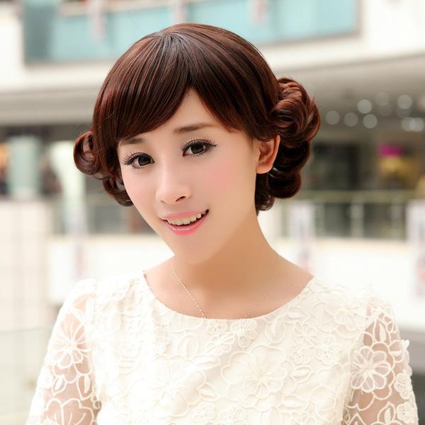 【女款】假发中老年女款妈妈短卷发翻翘新款短发修脸发型厂家现货批发