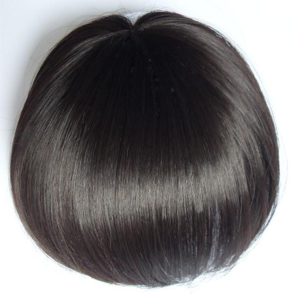 【假发发片】深圳真人发假发套真发头套真人发头套假发发片,织发图片