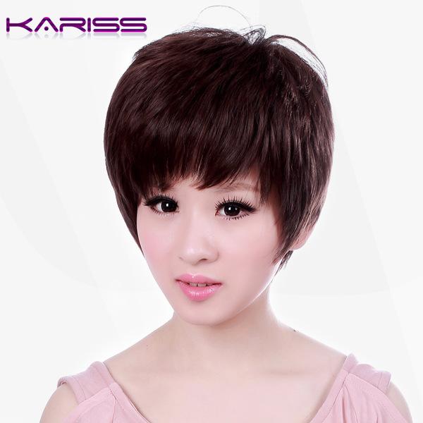 【假发真发】卡瑞丝假发全手织发套真人发假发真发批发gwd14hq图片