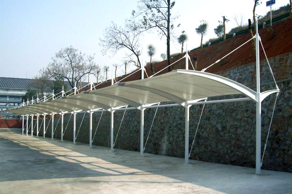 平顶山膜结构停车场效果图,膜结构车棚厂家图片