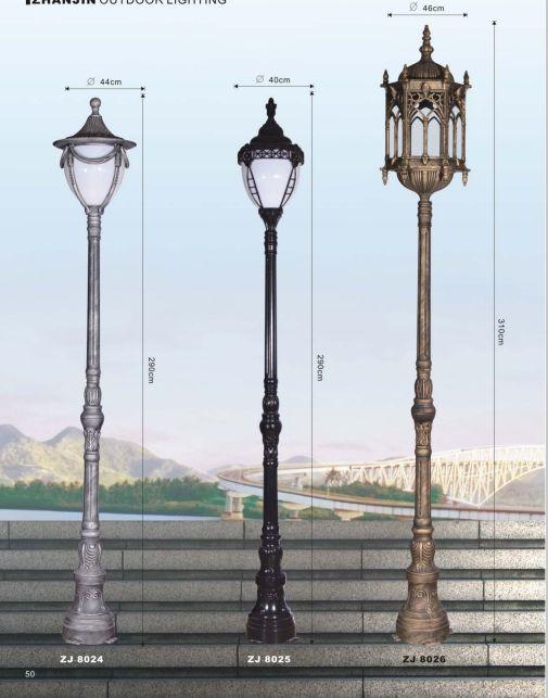 欧式庭院灯压铸路灯工程马路灯室外柱头灯图片
