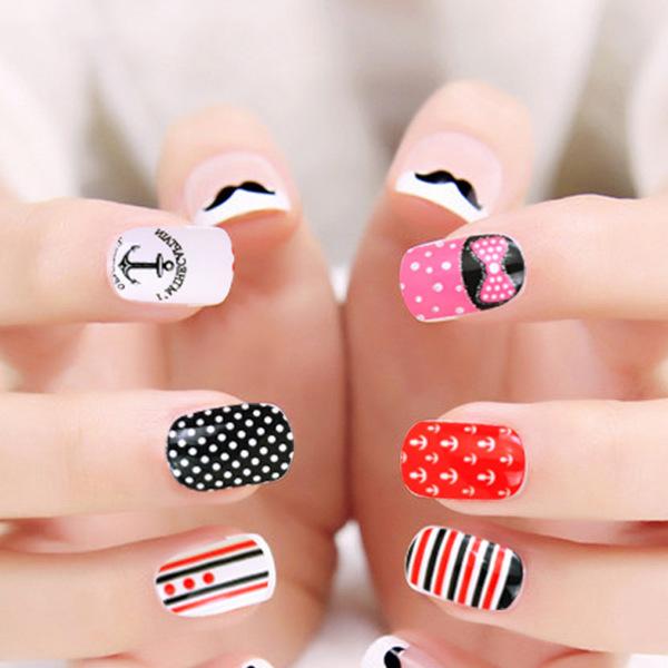 【美甲贴纸】夏季新款美甲贴纸diy指甲全贴纸指甲贴可爱女士美甲贴纸