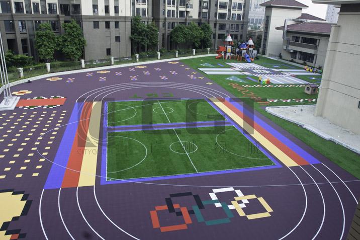 """质量""""已经成为全国幼儿园拼装地板,篮球场拼装地板地面系统优选供应商"""
