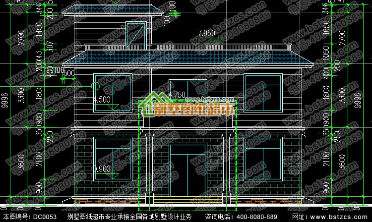 11.6米×13.5米新农村二层自建房设计图纸_农村别墅设计