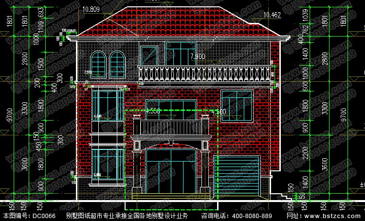 三层带车库新农村别墅设计图纸新农村别墅设计图纸