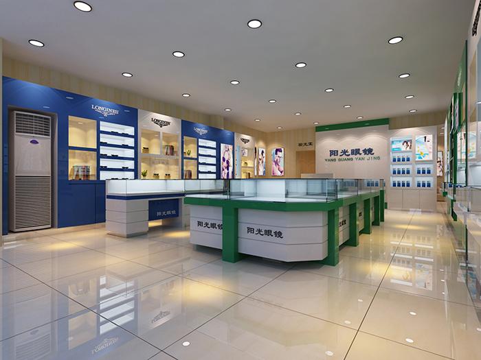 各类眼镜展柜的保养方法|眼镜店装修效果图设计