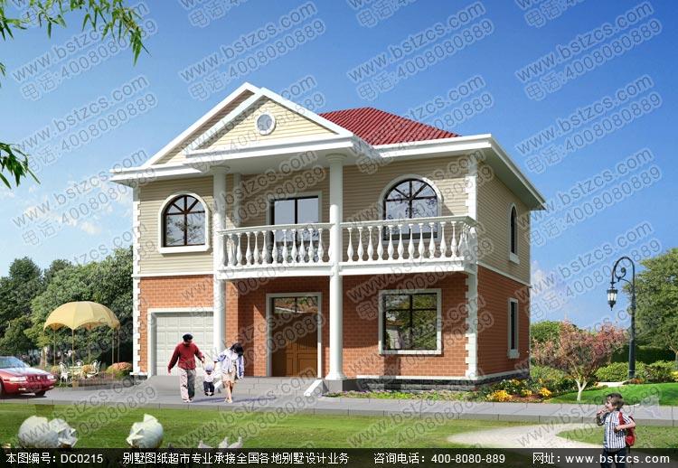 农村别墅图_12米×108米农村二层别墅设计图_带车库