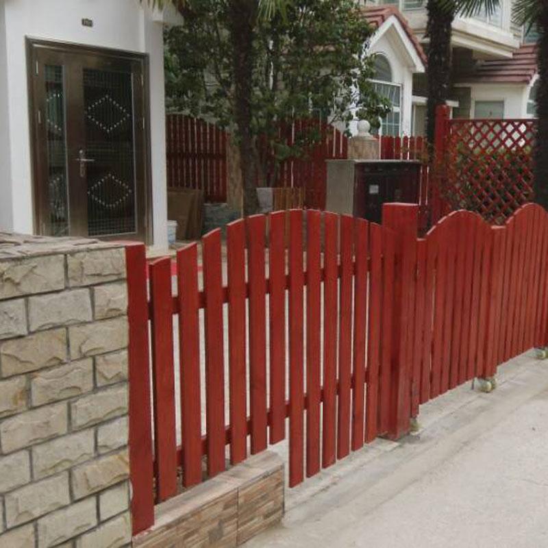 重庆栏杆实木栏杆防腐木栏杆栏杆定制栏杆安装叠杯定做图片