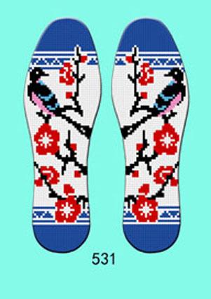 十字绣鞋垫简单图案精品印花