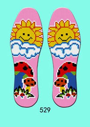 防臭十字绣针孔印花鞋垫批发 可以撕开卖的鞋垫