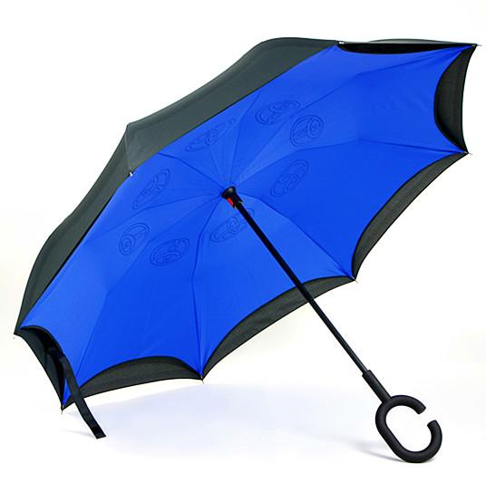 反向伞就是基于此做反向设计,收伞时迅速打开车门坐进去图片