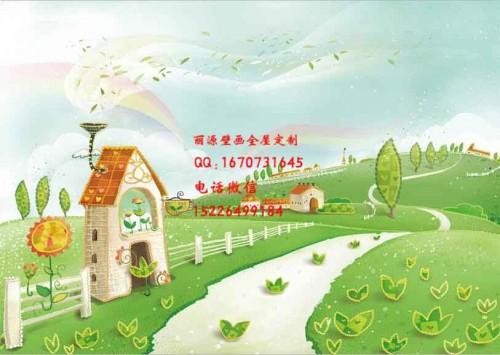 甘肃武威幼儿园壁画游乐园墙绘
