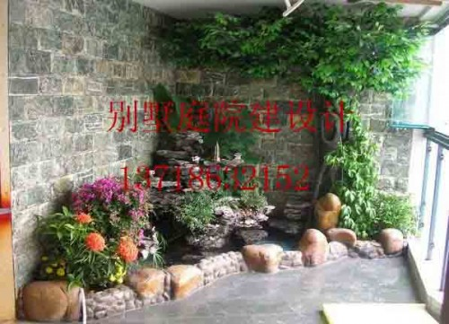 庭院鱼池设计实景图|庭院地面石材|别墅庭院设计说明