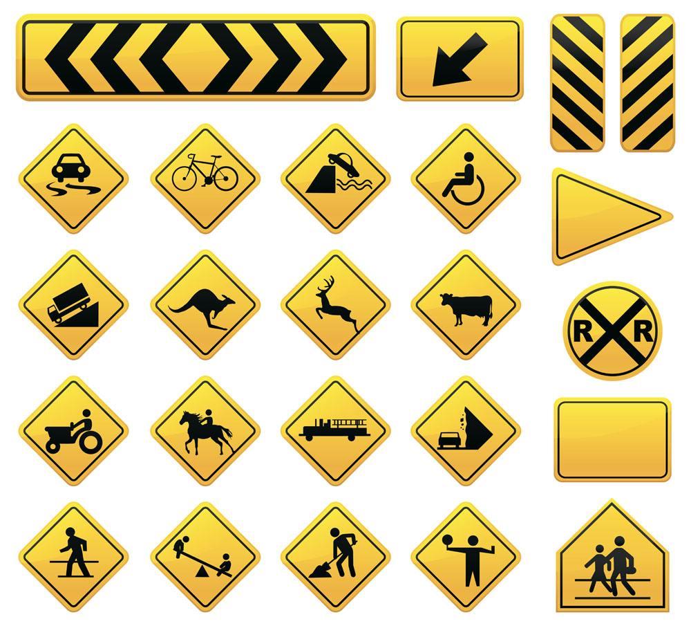 道路警示灯批发图片