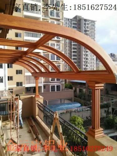 深圳铝合金厂家露台棚露台,铝合金机械雨棚棚图纸雨棚复杂图片