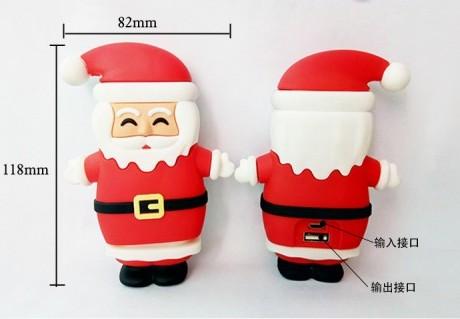 厂家批发移动电源开模圣诞老人充电宝卡通形象充电宝企业形象礼品