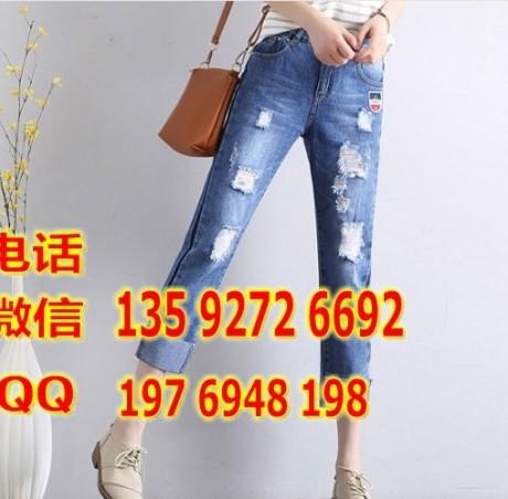 批发一元地摊牛仔裤货源去广州尾货牛仔裤批发市场