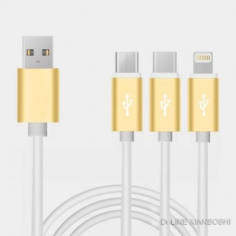 厂家直销高端私模硅胶数据线Cable 苹果 华为 小米 通用